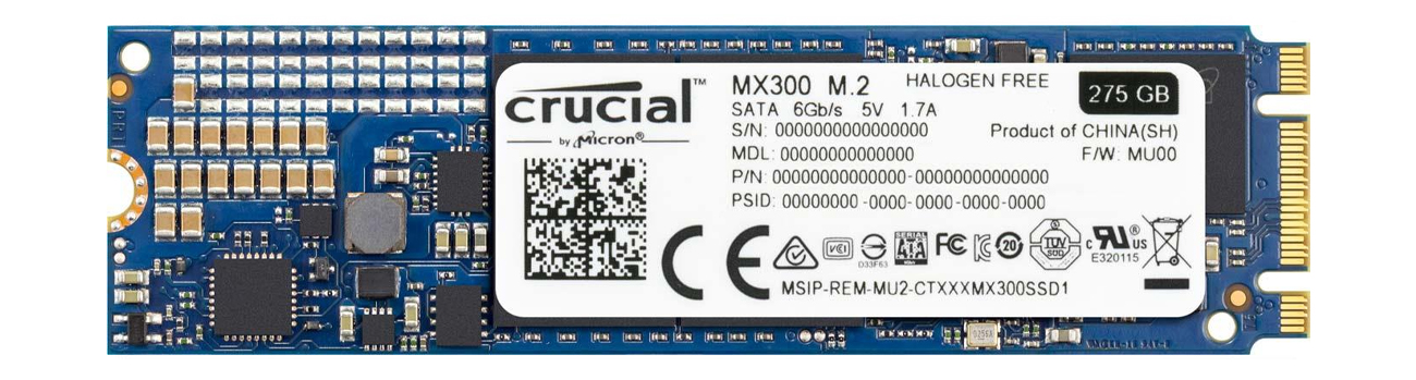 Dysk SSD M.2 Crucial 275GB MX300