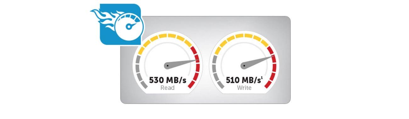 Dysk SSD Crucial 275GB 2,5'' MX300 - Prędkości zapisu i odczytu
