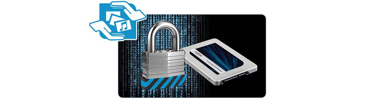 Dysk SSD Crucial 750GB 2,5'' MX300 - ochrona danych
