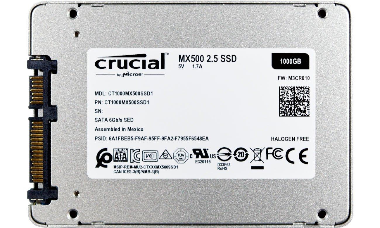 Dysk SSD 1TB 2,5'' SATA Crucial CT1000MX500SSD1