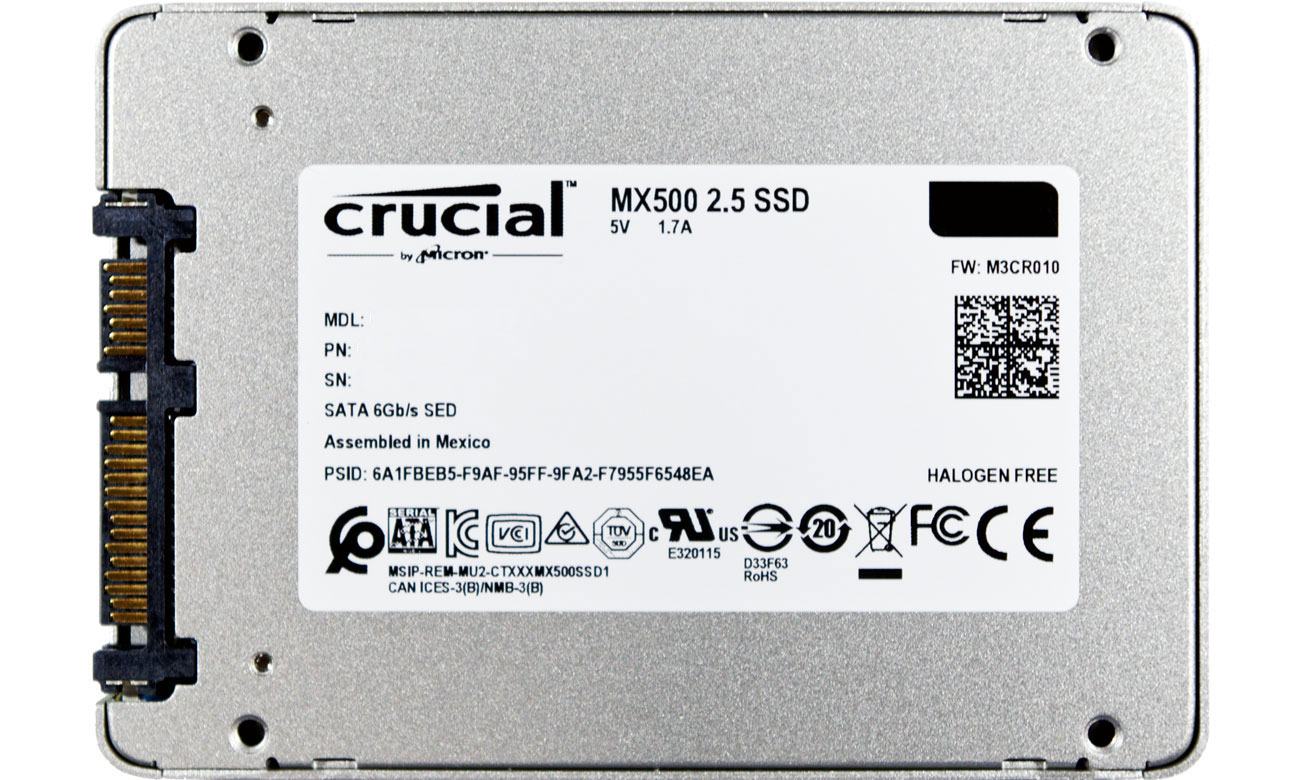 Dysk SSD 500GB 2,5'' SATA Crucial CT500MX500SSD1