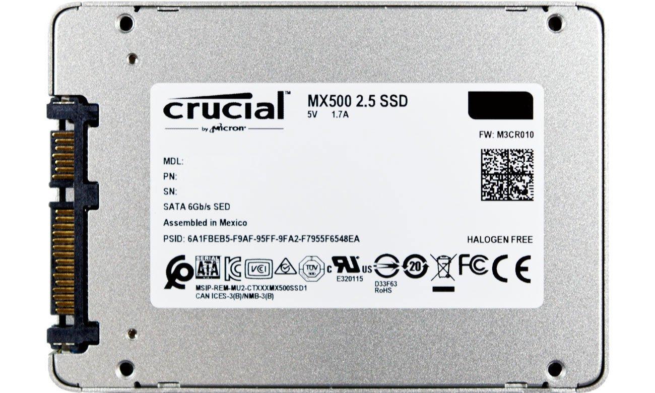 Dysk SSD 500GB 2,5'' SATA Crucial CT500MX500SSD1