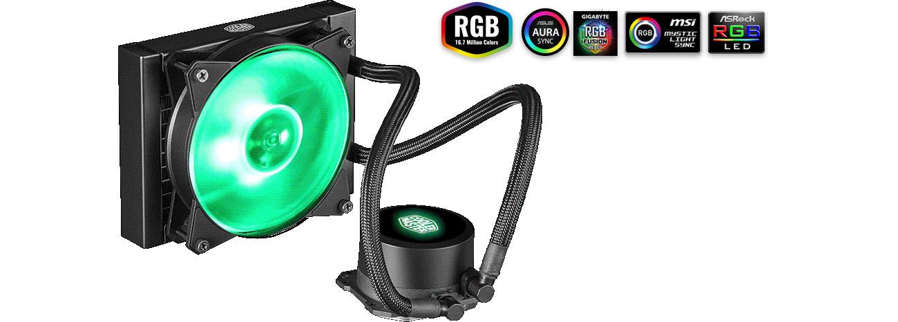 Cooler Master MasterLiquid ML120L Podświetlenie RGB