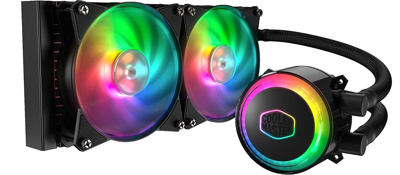 Cooler Master MasterLiquid ML240R Podświetlenie RGB