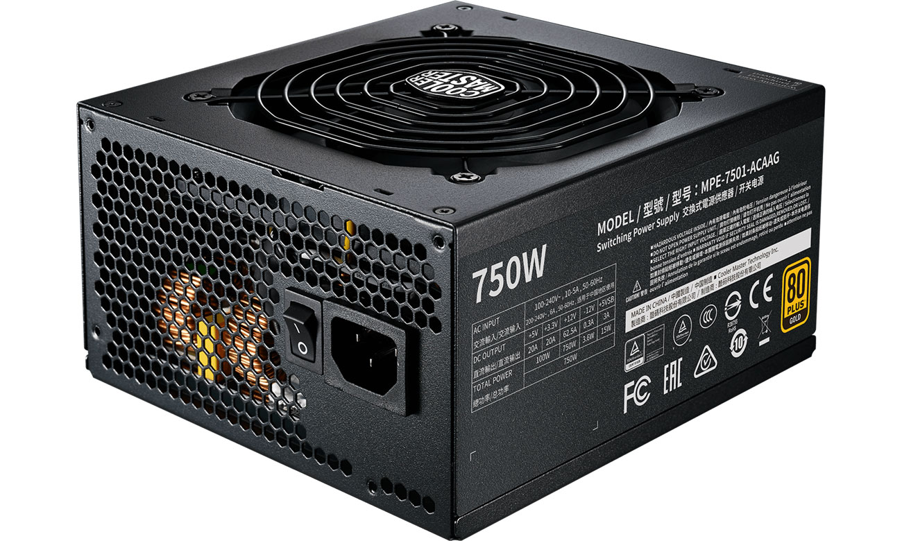 Zasilacz do komputera Cooler Master MWE GOLD-V2 750W 80 Plus Gold MPE-7501-AFAAG-EU