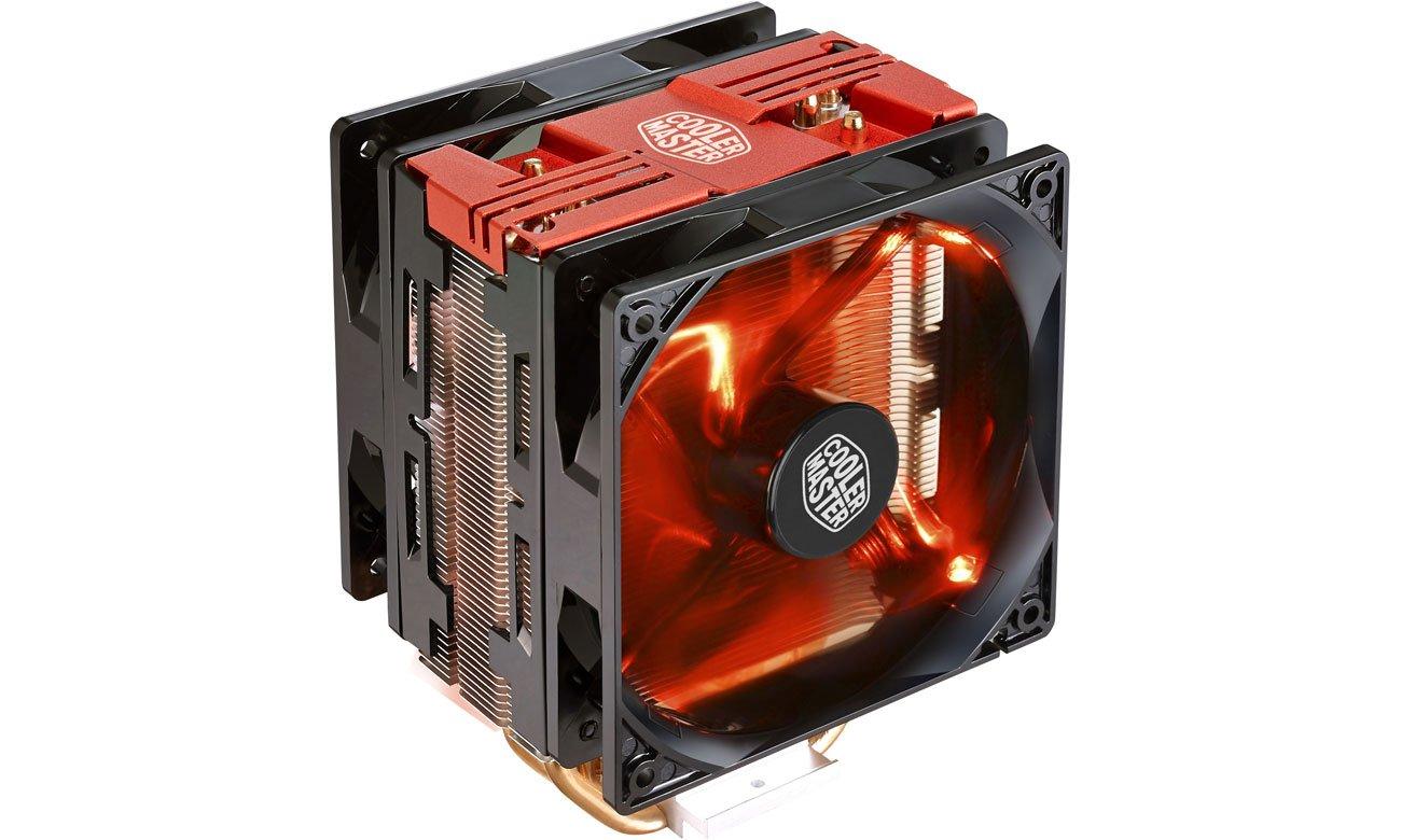 Chłodzenie procesora Cooler Master Hyper 212 LED Turbo czerwony RR-212TR-16PR-R1