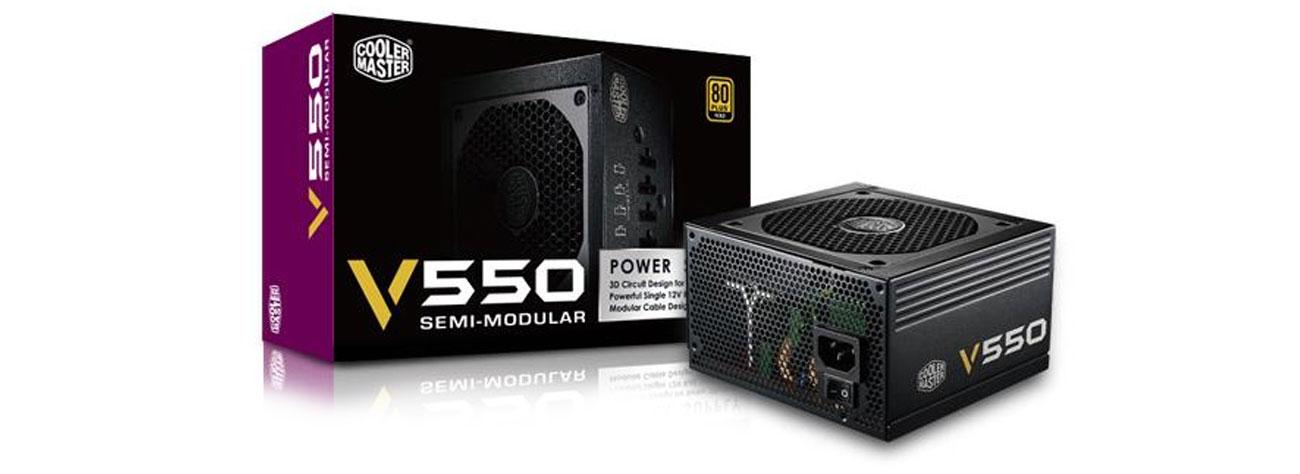 Cooler Master 550W zasilacz modułowa konstrukcja kondensatory