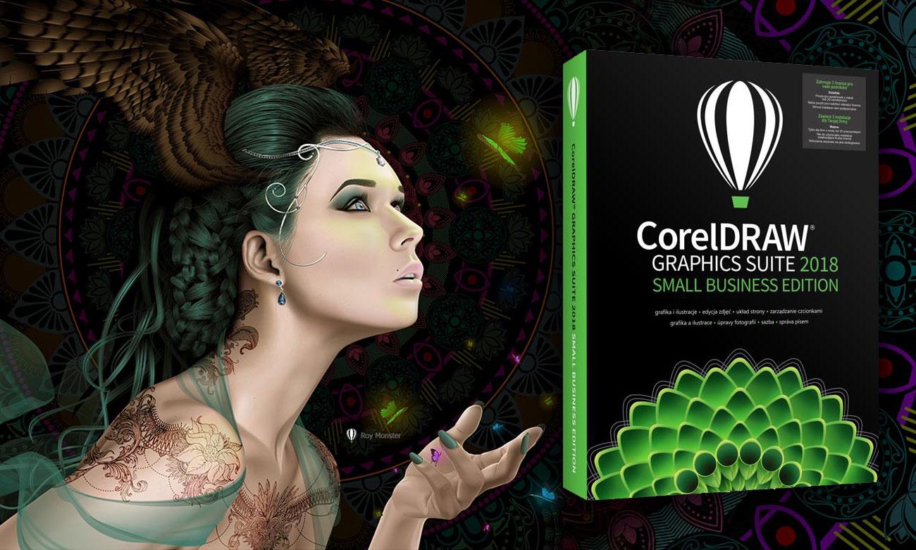 CorelDRAW Graphics Suite 2018 Small Business Oprogramowanie do projektowania graficznego