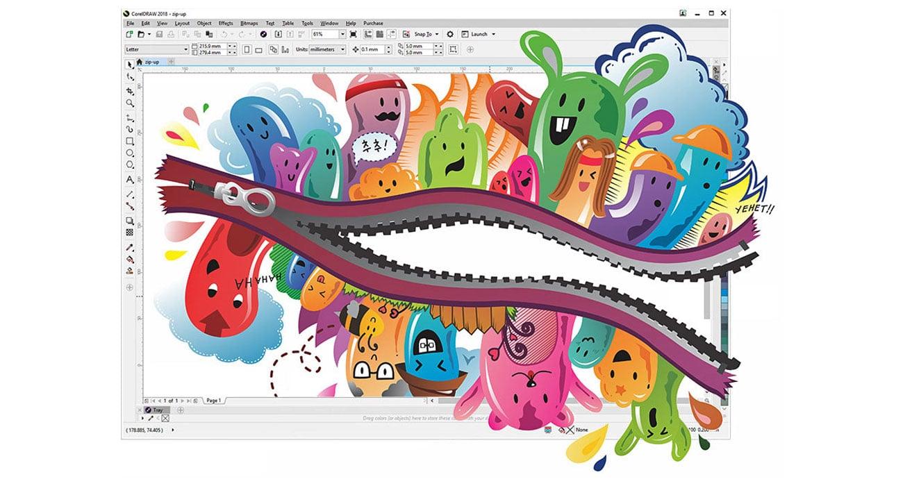 CorelDRAW Graphics Suite SE Główne aplikacje oraz zasoby