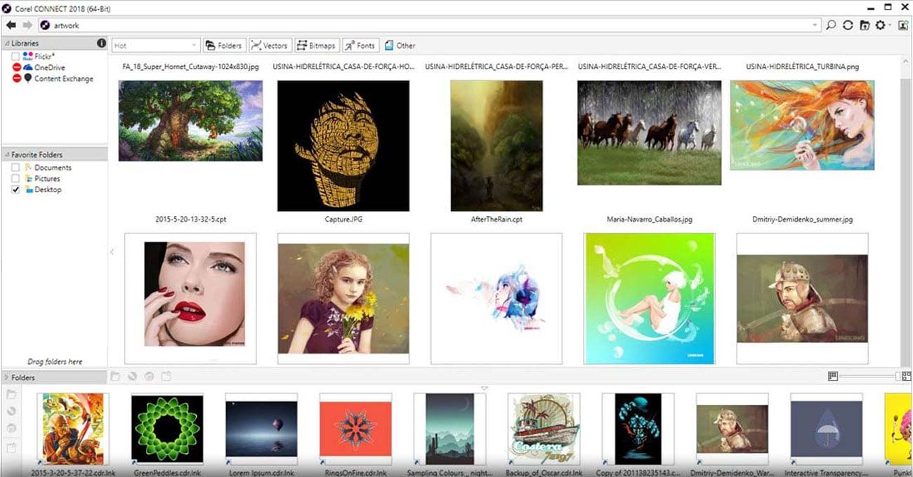 CorelDRAW Graphics Suite SE Szybkie wyszukiwanie materiałów