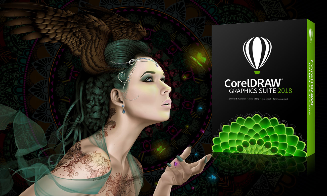CorelDRAW Graphics Suite 2018 (Upgrade) Oprogramowanie do projektowania graficznego
