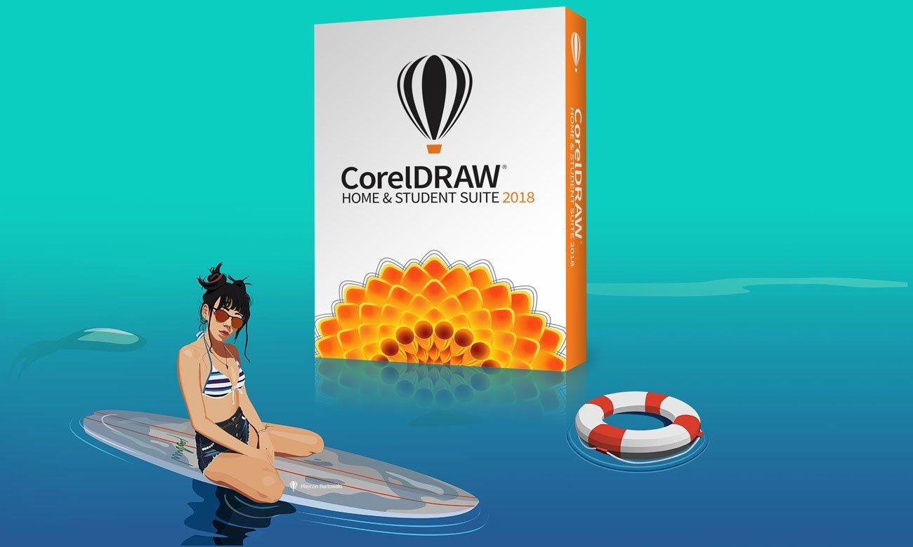 CorelDRAW Home Student Suite 2018 Kompleksowe oprogramowanie do projektowania graficznego
