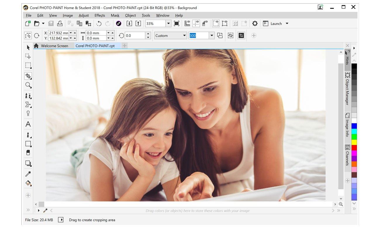 CorelDRAW Home Student Suite 2018 Potężne możliwości edycji zdjęć