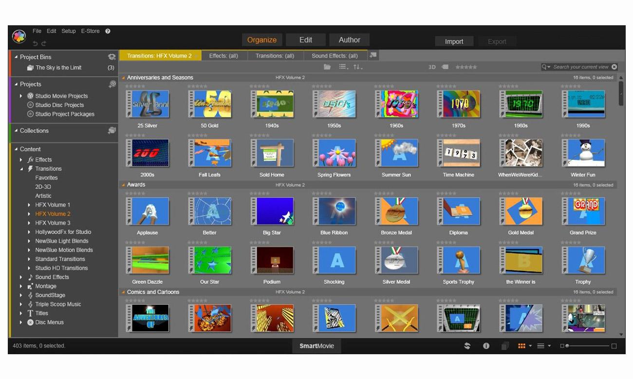 Pinnacle Studio 22 Standard Ekscytujące dodatki