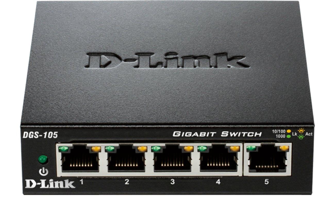 D-Link DGS-105 Widok Z Przodu