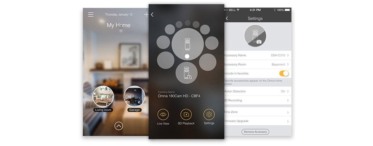 D-Link DSH-C310 Aplikacja mobilna Omna