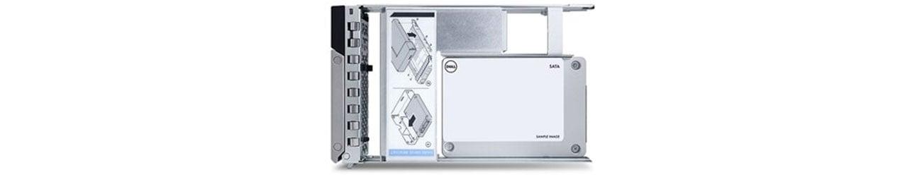 Dysk serwerowy Dell 960GB SSD 512e 2.5 in 3.5 Read Intensive Hot-Plug 400-BDPM