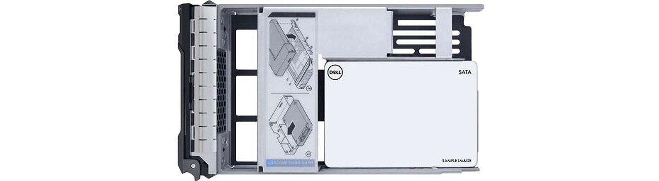 Dysk serwerowy Dell 480GB SSD 512e 2.5 in 3.5 Read Intensive Hot-Plug 400-BDPD