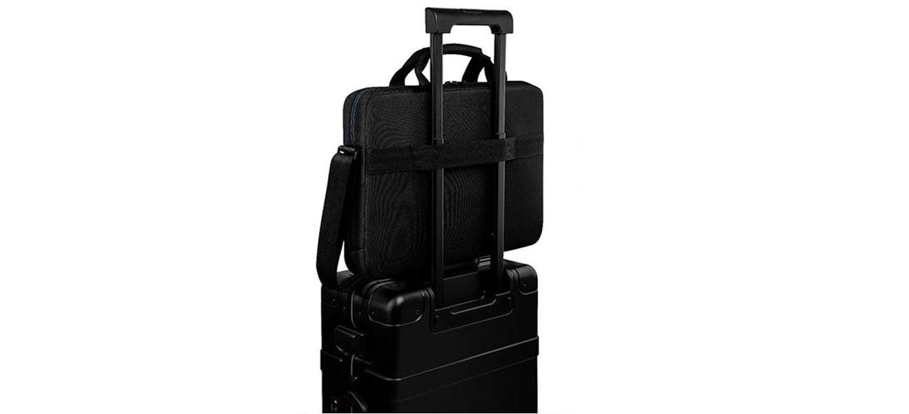 Montaż torby na walizce