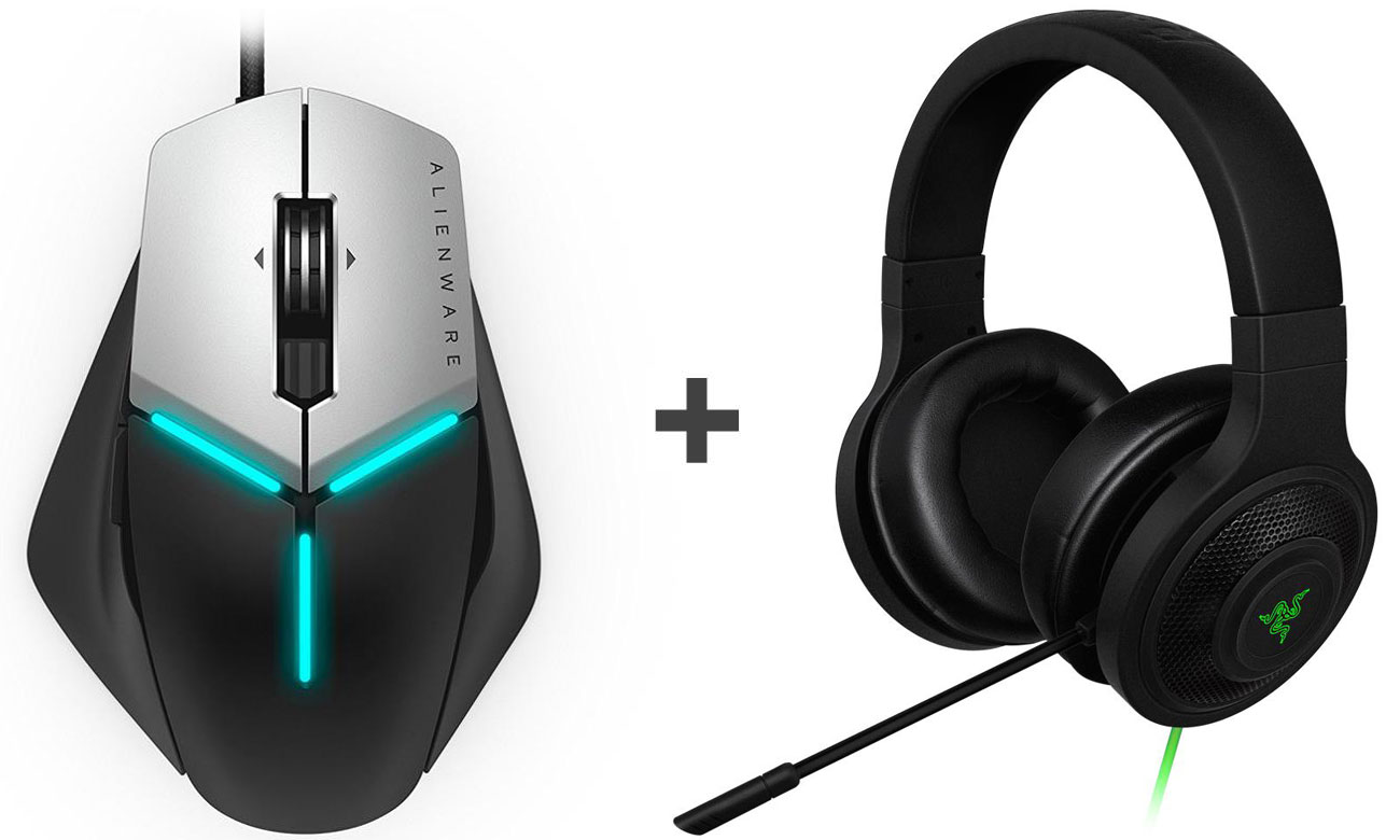 Zestaw Dell Alienware Elite Gaming Mouse + Razer Kraken Essential