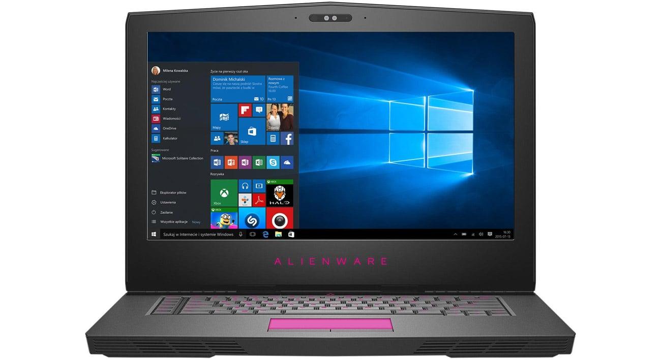 Dell Alienware 15 podświetlana klawiatura