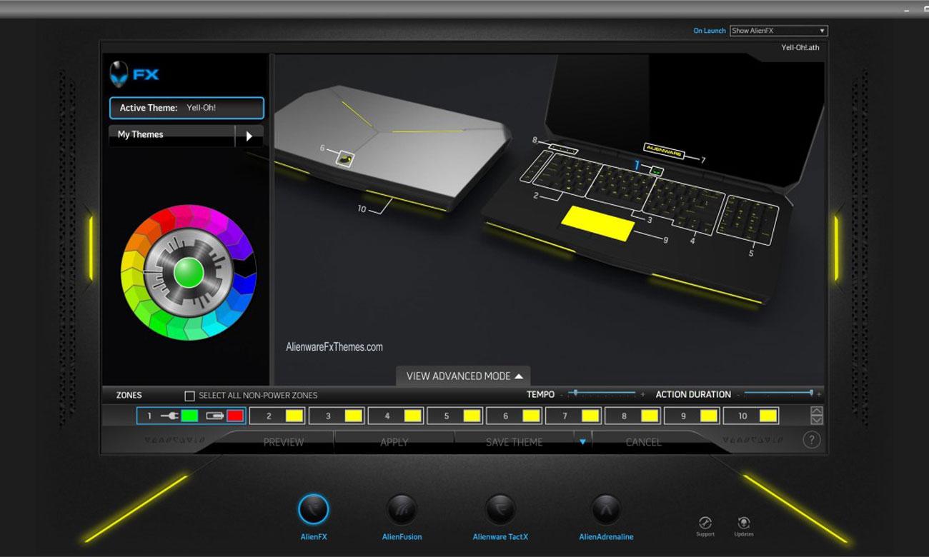 Dell Alienware 17 podświetlenie AlienFX