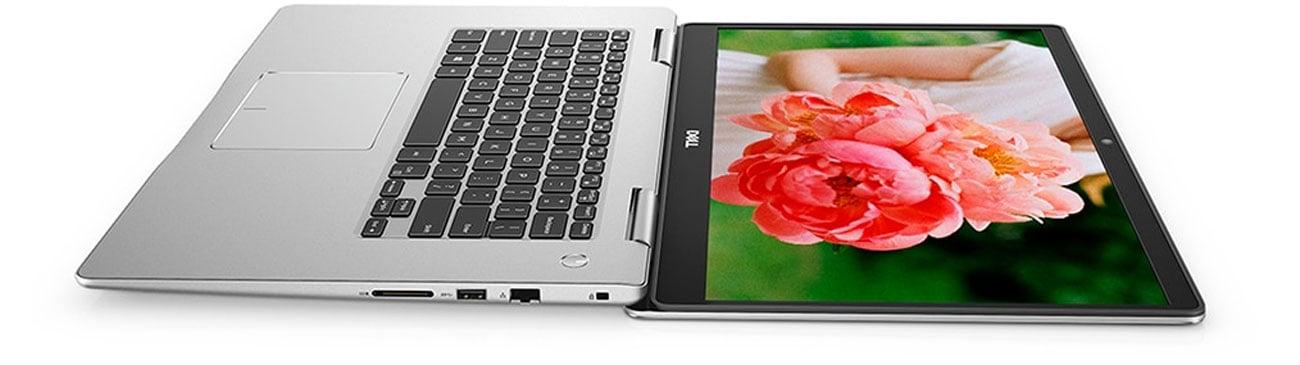 Dell Inspiron 7570 podświetlana klawiatura oraz zawias 180 stopni