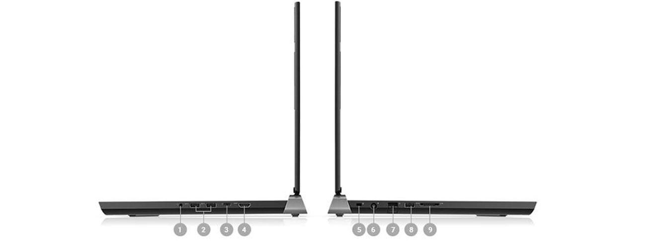 Dell Inspiron 7577 porti gniazda