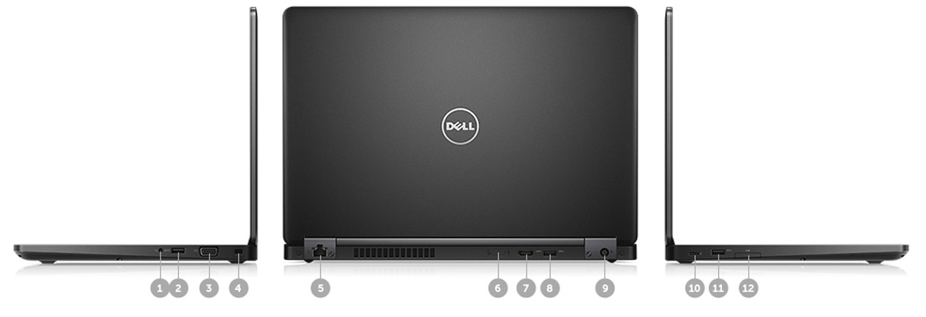 Dell Latitude E5480 porty