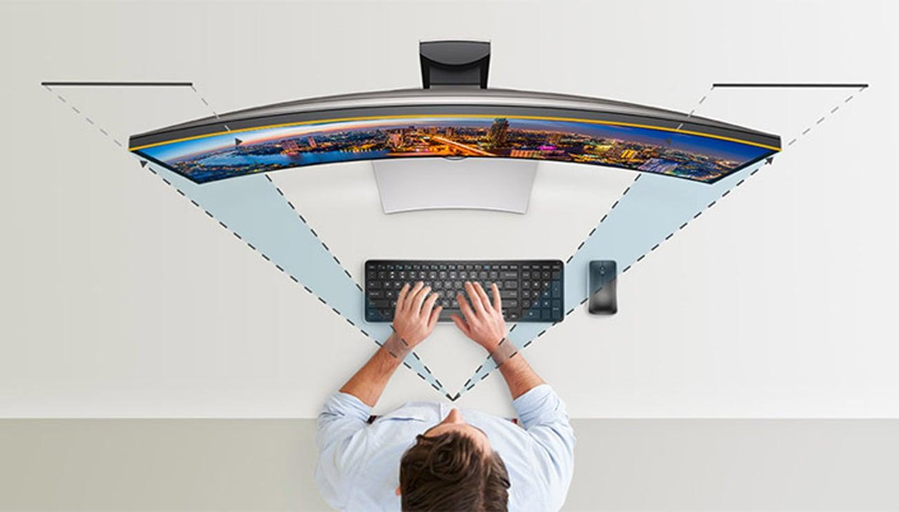 Dell U3417W zakrzywiony ekran