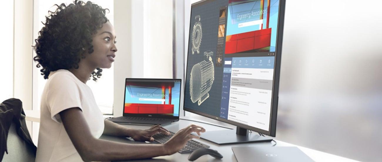 Wsparcie biznesu z monitorem Dell U4320Q