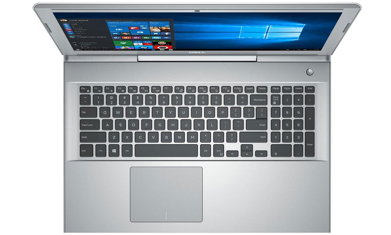 Dell Vostro 7580 Ergonomiczna klawiatura, Precyzyjny panel dotykowy