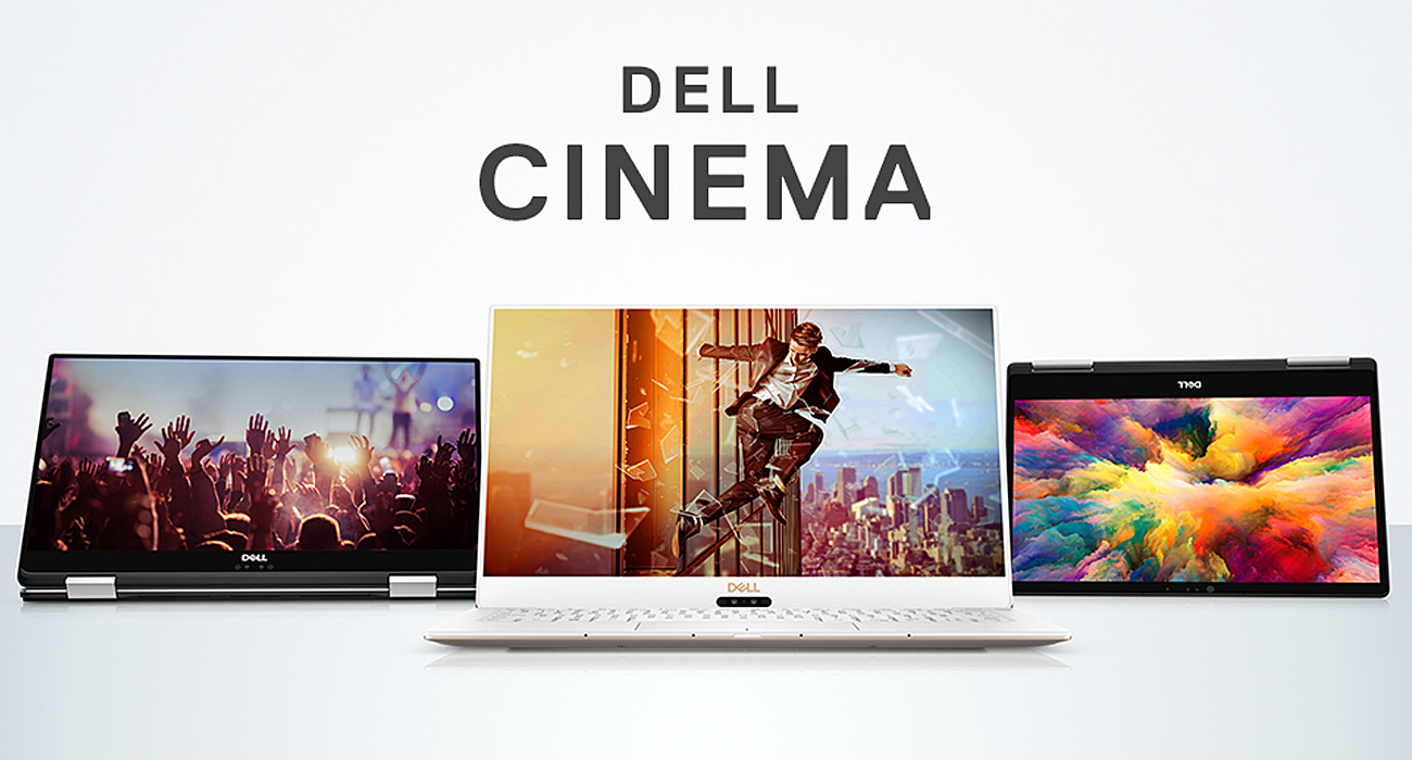 Dell XPS 9575 Technologie Dell Cinema