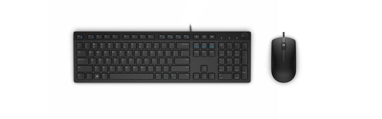 klawiatura Dell KB216 i mysz Dell MS116