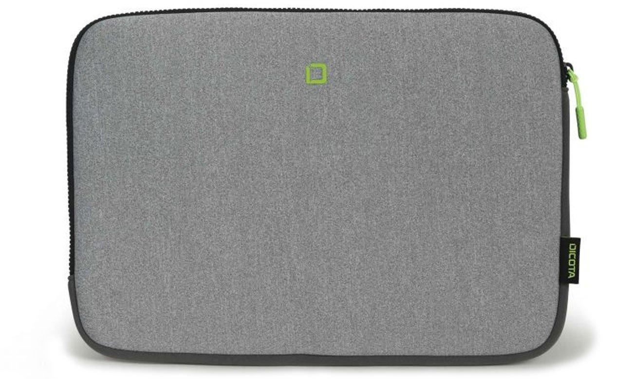 Etui na laptopa Dicota Skin FLOW 13-14.1 szary/zielony