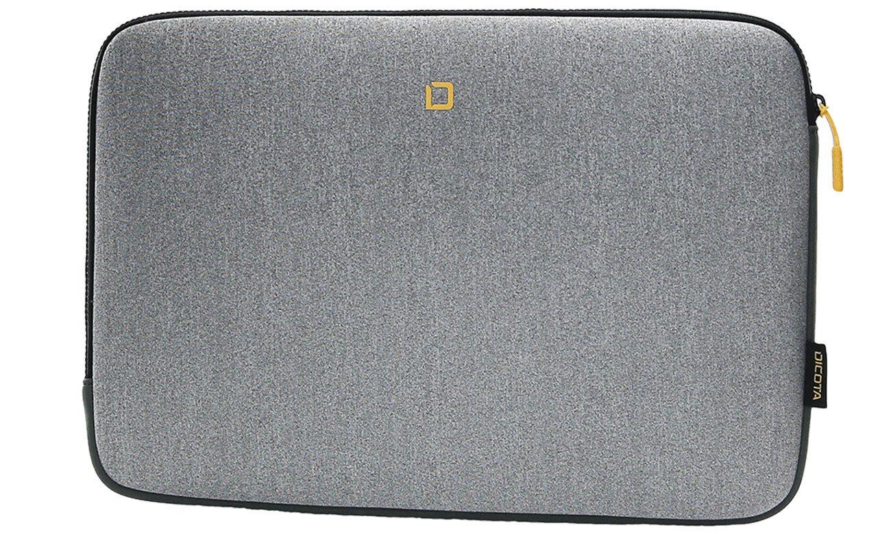 Etui na laptopa Dicota Skin FLOW 13-14.1 szary/żółty