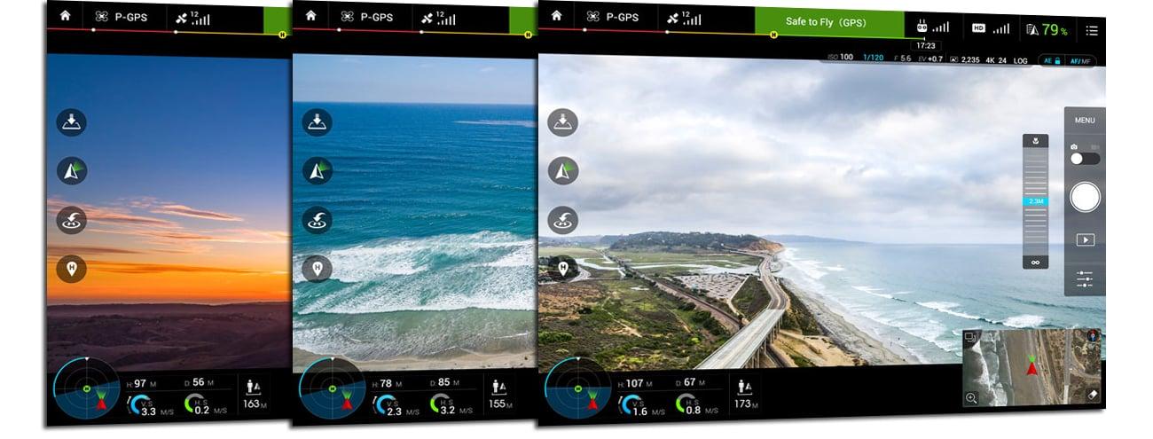 DJI Inspire 1 PRO aplikacja mobilna