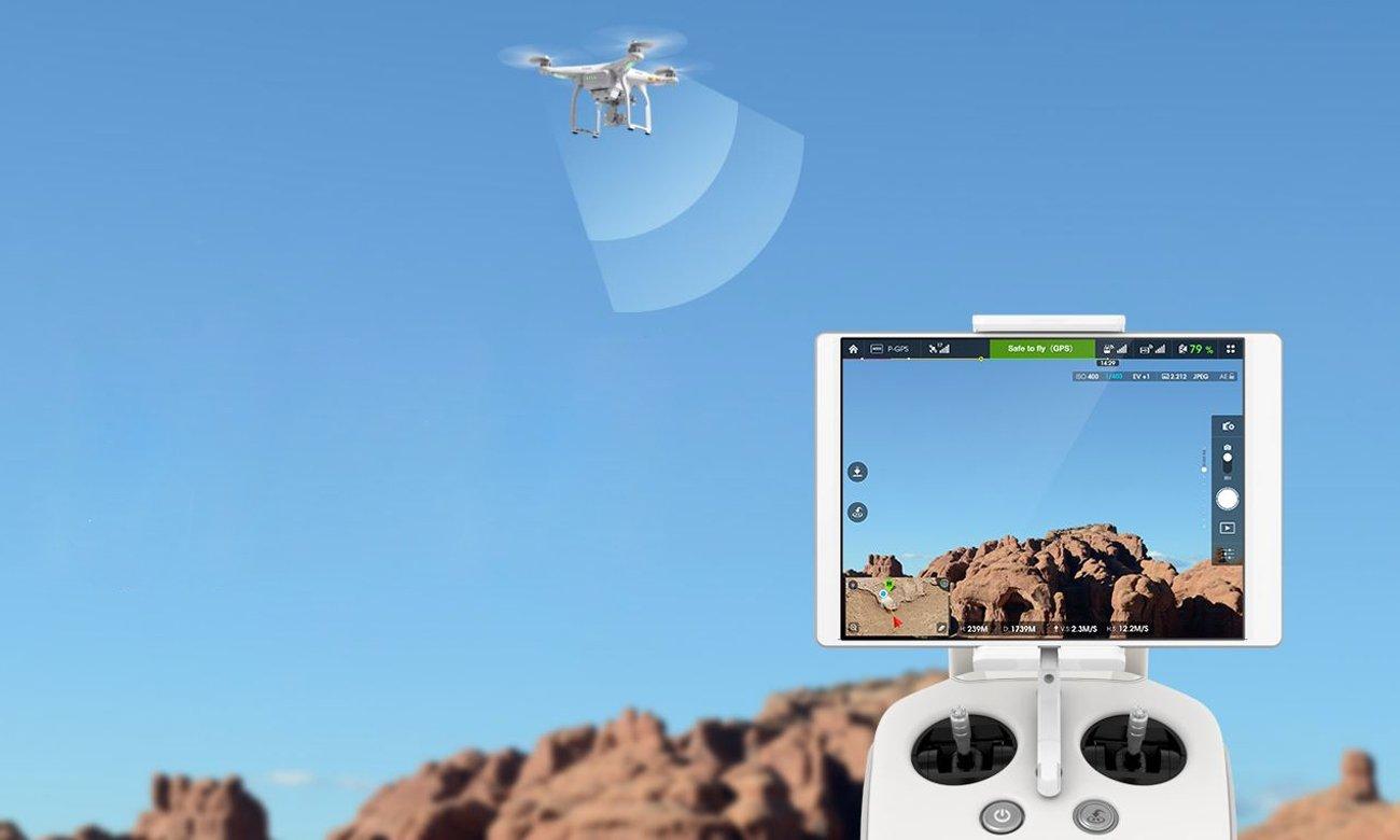 DJI Phantom 3 Advanced podgląd na żywo