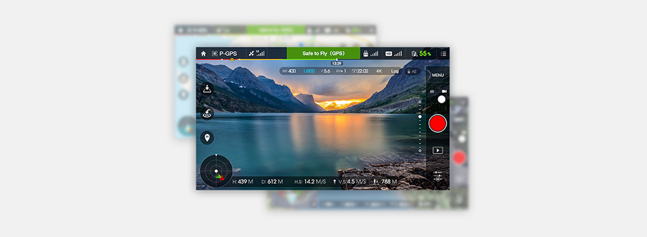 DJI Phantom 3 Advanced aplikacja mobilna