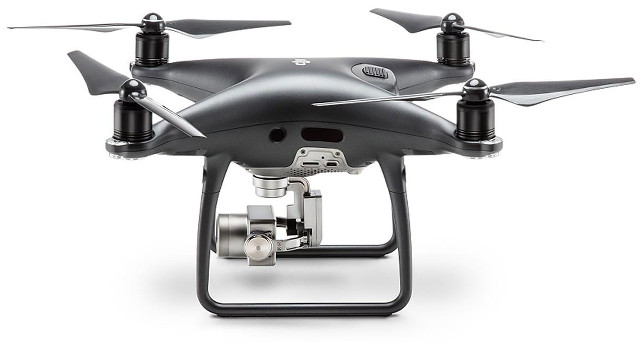 Dron DJI Phantom 4 Pro widok z boku
