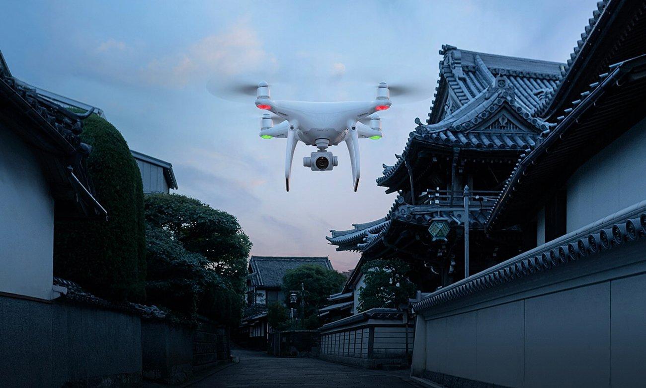Dron DJI Phantom 4 Pro wykrywanie przeszkód