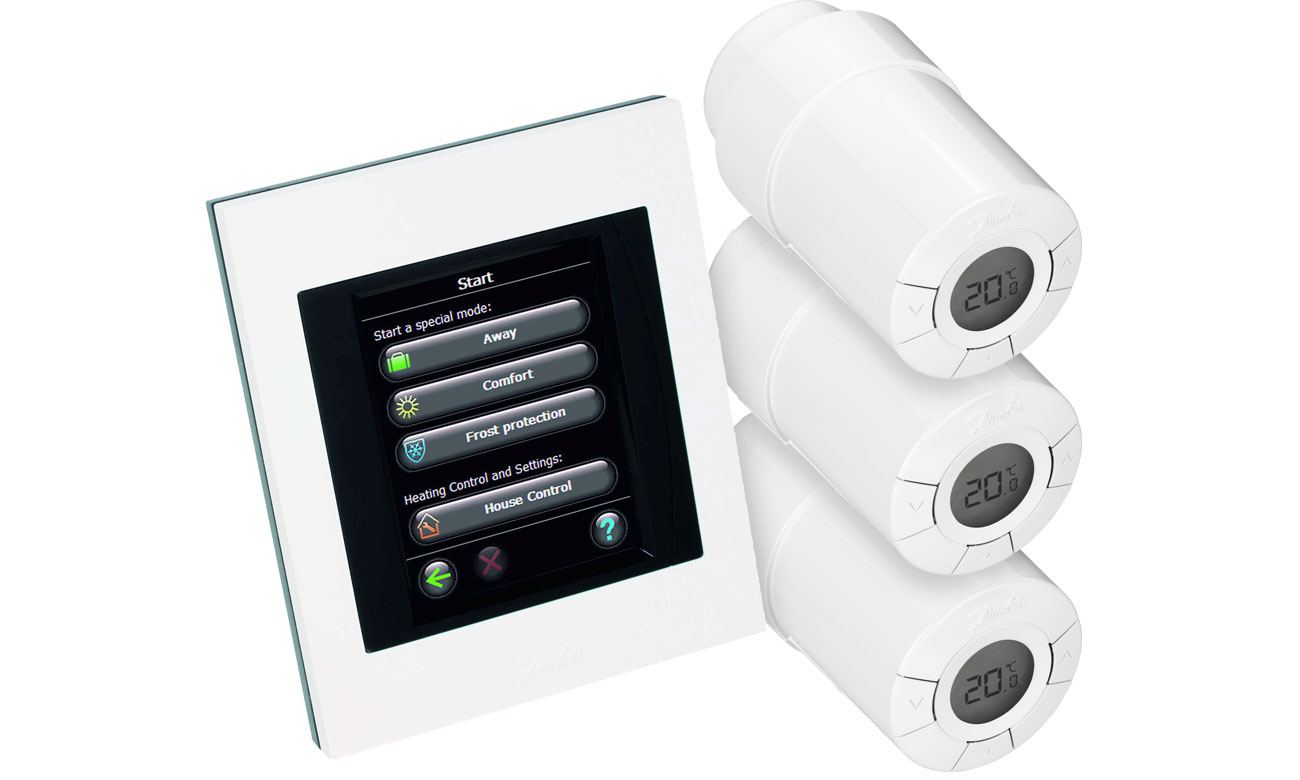 DanfossZestaw startowy dla 3 grzejników + panel Link WiFi 014G0501