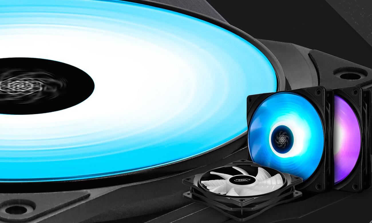 Zestaw Deepcool RF120 LED RGB Zestaw do chłodzenia komputera