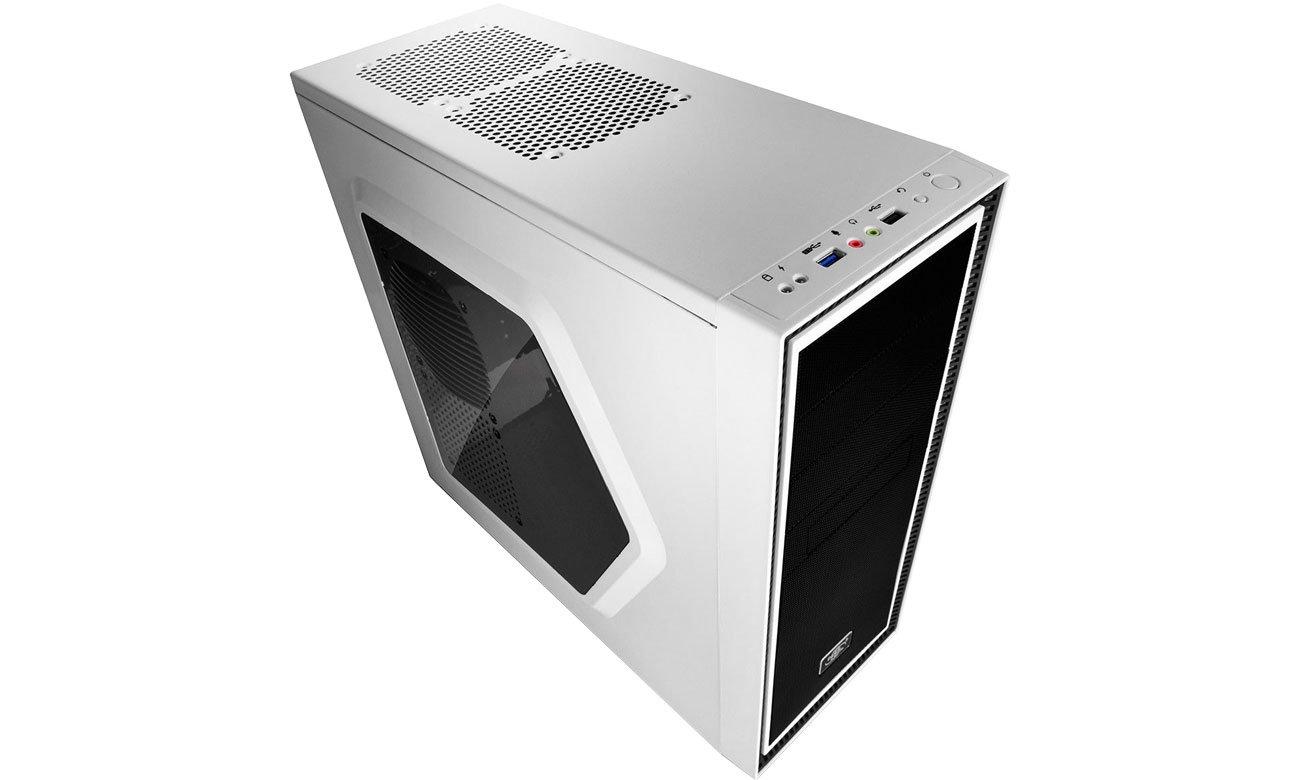 Deepcool TESSERACT SW-WH Panel górny, porty USB