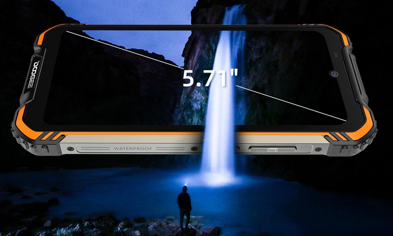 Ekran o wielkości 5,71 cala