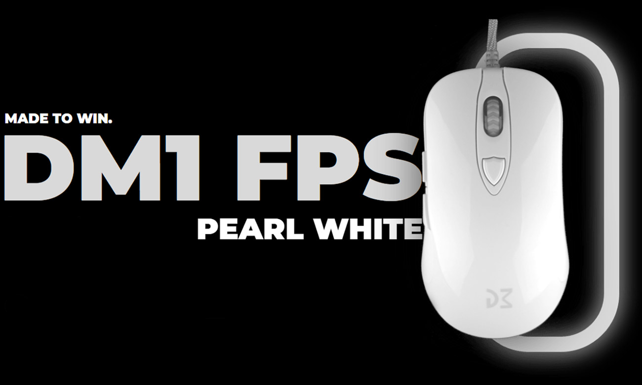 Mysz dla graczy Dream Machines DM1 FPS Pearl White