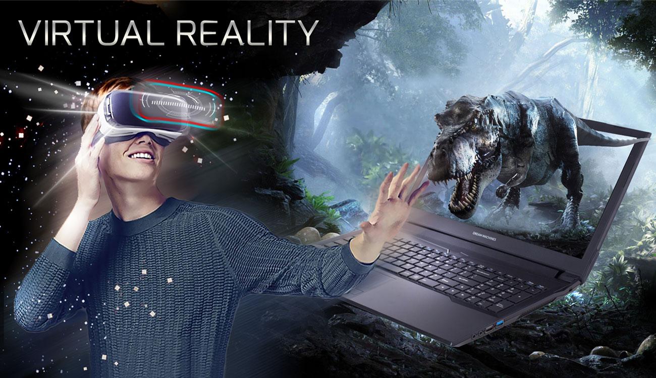 Dream Machines G1050Ti-17PL31 Wejdź do fascynującego świata VR