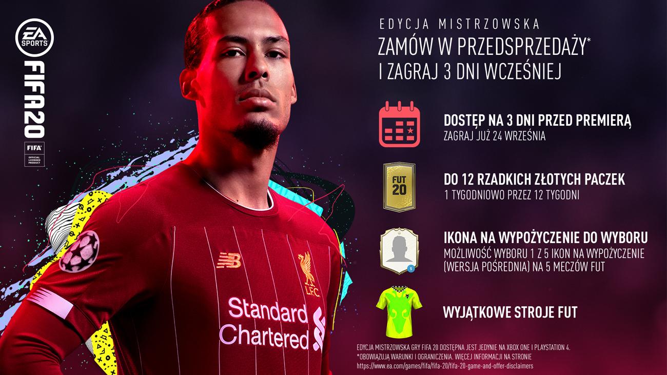 FIFA 20 Edycja Mistrzowska - Zawartość dostępna w przedsprzedaży