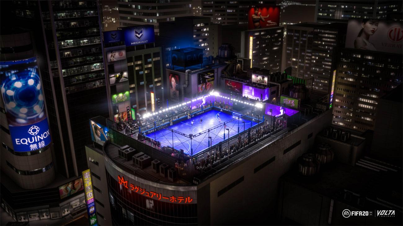 FIFA 20 - Tryb Volta, stadion na dachu wieżowca Tokio