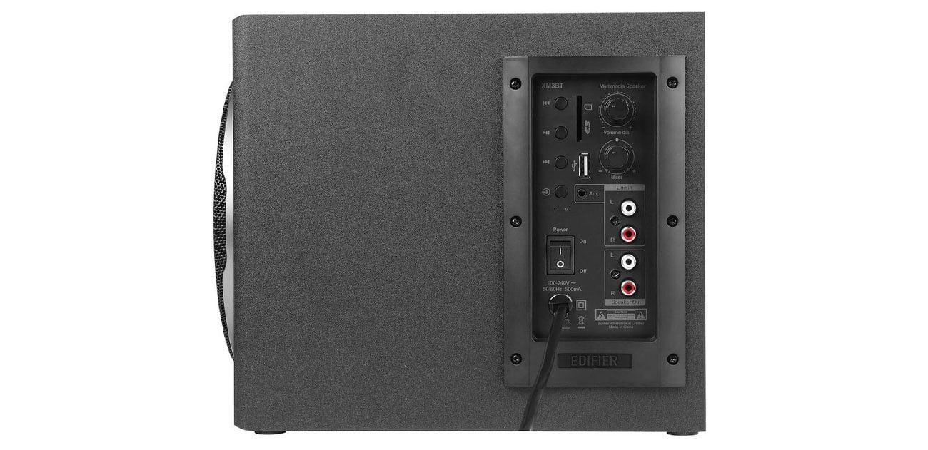 Edifier 2.1 XM3BT Boczny panel sterujący